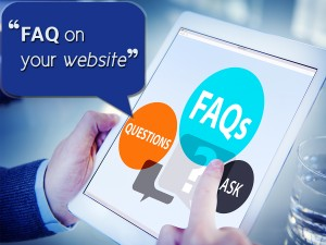 FAQ on your website