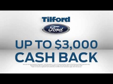 Tilford $2000 Minimum Trade and Factory Cash Back