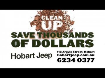 Hobart Jeep 2014 Plate Demonstrator Sale TVC